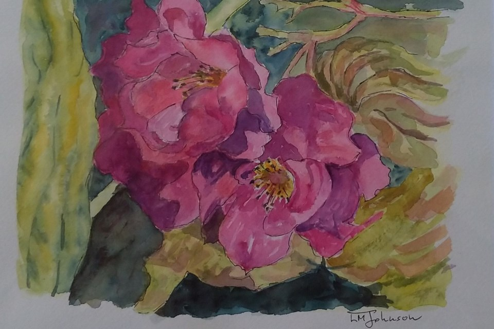 Luise Mendler-Johnson has an exhibit of small still-life paintings called Flowers & Fruit in the Corridor Gallery at VASA until Monday, July 8.