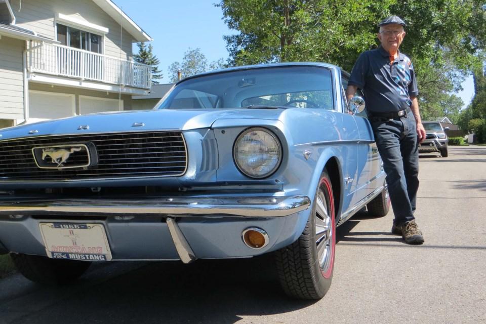 Archie Childs, a St. Albert Cruiser and Rock'n August volunteer showcases his 1966 Ford Mustang. ANNA BOROWIECKI/St. Albert Gazette