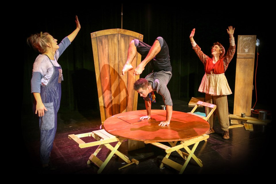Montreal based TerZettto bring a bit of clown based storytelling and joie de vivre at the Morinville Community Cultural Centre on Oct. 4. MICHEL ROY/Photo