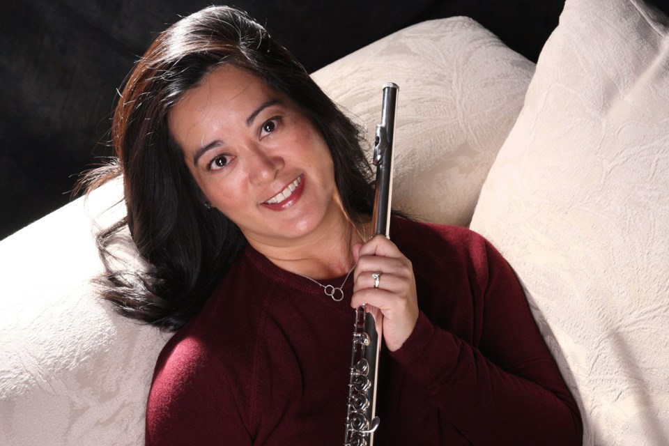 St. Albert flautist Crystal Krips is a founding member of Terzetto. As part of Take 10, the trio will perform a free noon hour concert at St. Albert Place on Thursday, Oct. 10.