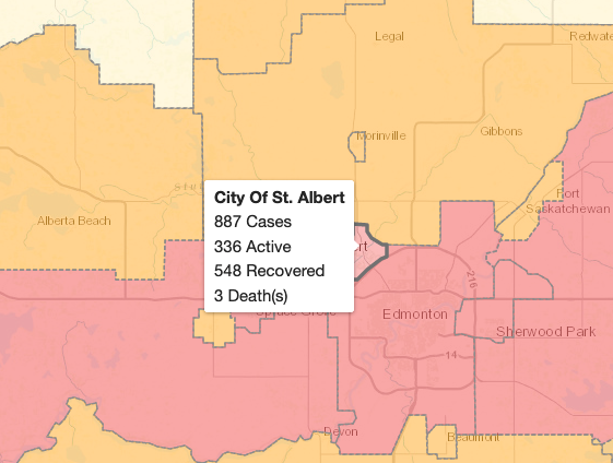 Alberta reports new daily high of 1854 COVID-19 cases, 14 deaths