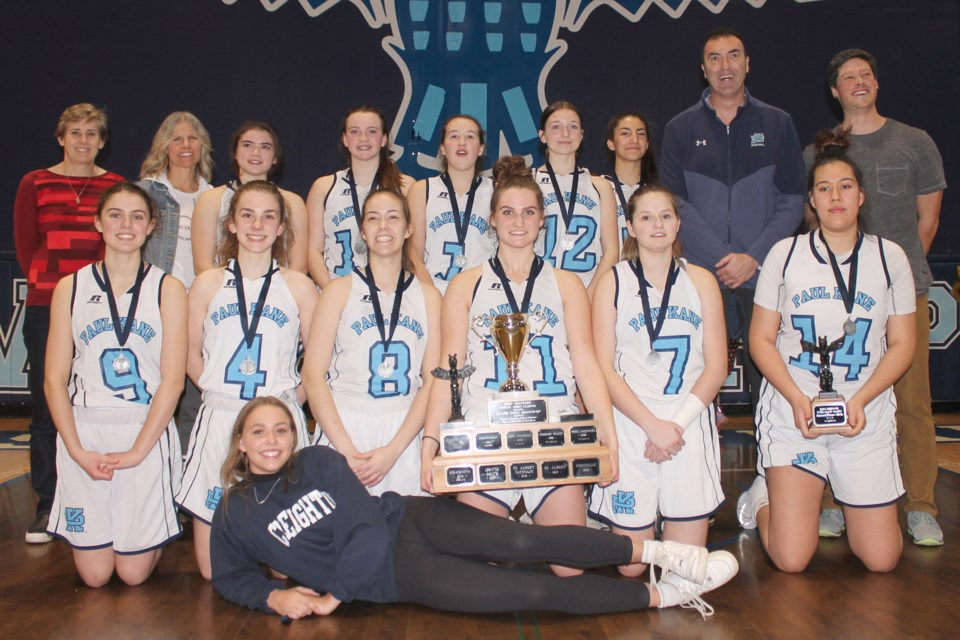 FINALISTS – The Paul Kane Blues finished second in the second tournament in a row as finalists at the 27th annual Totem Hoop Classic at Ross Sheppard HIgh School. Paul Kane is 4-2 this season after the 60-57 loss to the Magrath Pandas in Saturday's final. Chelsea Marko was selected a tournament all-star and against Magrath scored 14 points.