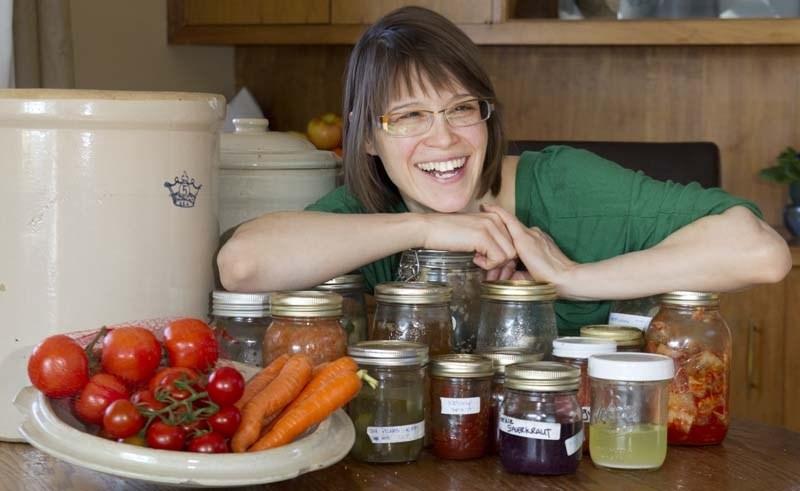 FERMENTED FOODIE – Fermented food aficionado Megan Miller shows some samples of her work