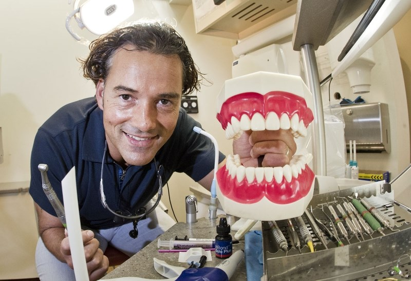 OPEN WIDE – Dr. Frank Neves of Bright Dental expects 50 per cent more patients to attend the Dental Compassion Day clinic on Sunday
