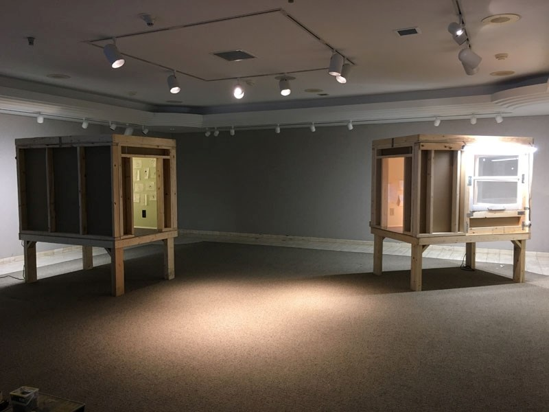 St. Albert intermedia artist Brad Necyk created two stilted rooms for McMullen Gallery visitors to step into and imagine what it's like to be in a remote part of the