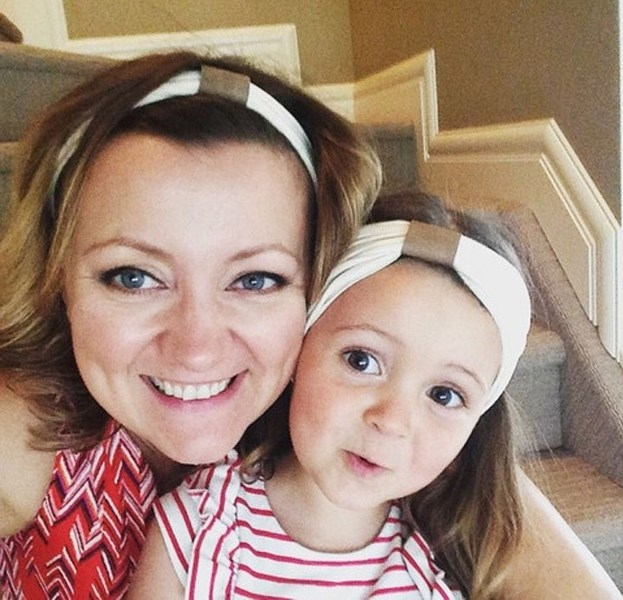 Entrepreneur Monika Kupczak Ainslie and her daughter Milla model headbands.