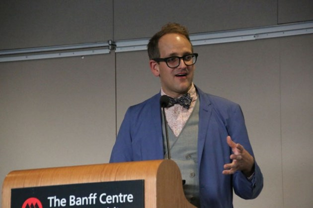 Shawn Micallef was the keynote speaker at the Alberta Smart City Symposium.
