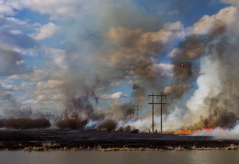 SCORCHED – A view of the Big Lake shore during the April 14 fire.