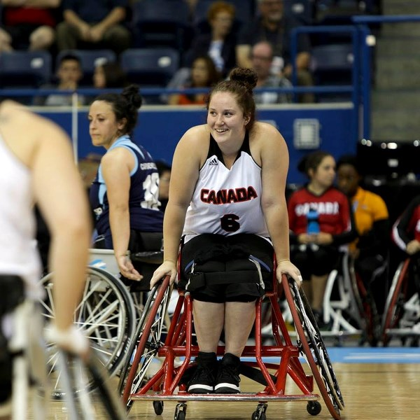 READY TO ROLL – Wheelchair basketball player Arinn Young of Legal is Rio bound with Team Canada at the 15th Summer Paralympic Games