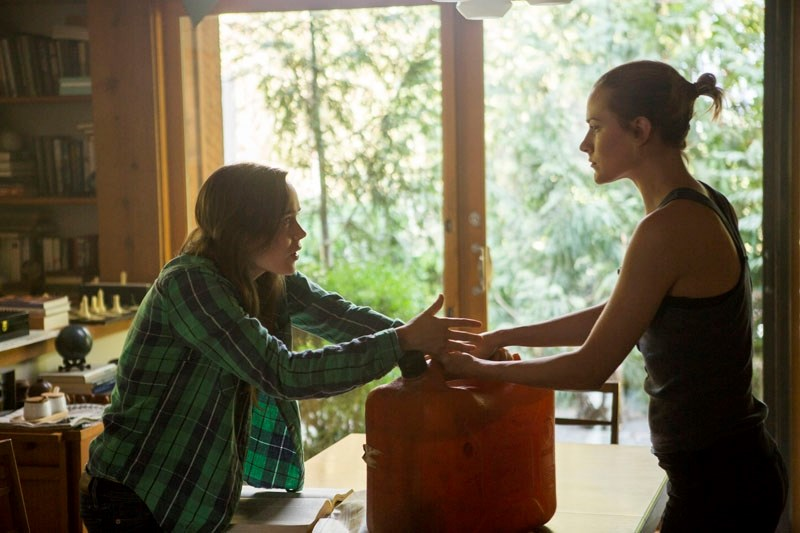 Ellen Page and Evan Rachel Wood play sisters Nell and Eva in the post-apocalyptic drama Into the Forest. Together