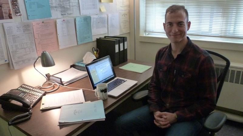 Co-executive producer and senior writer of Heartland Mark Haroun just needs a laptop