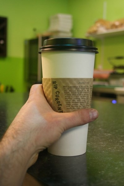 A series of five really short stories published on coffee sleeves has started making the rounds at two cafés in Morinville. The project is the brainchild of Edmontonian