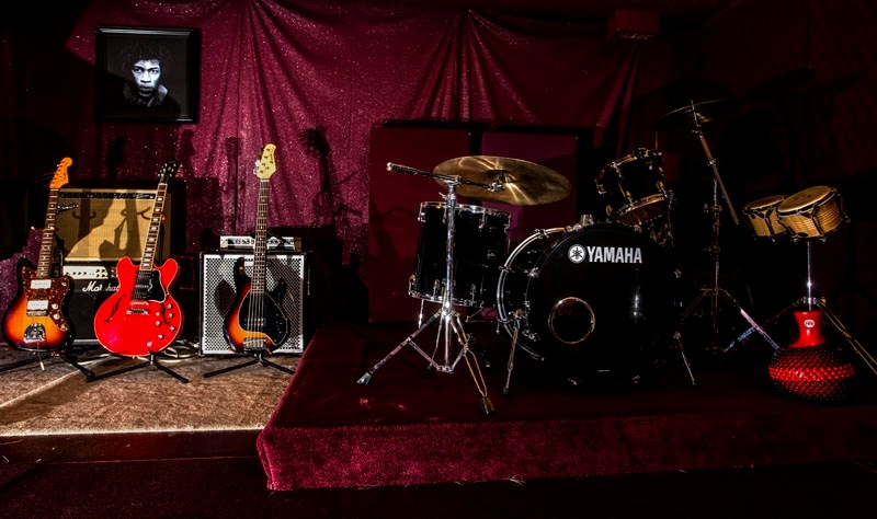 LIVE SPACE – The live recording space at Smith Music doubles as a performance space