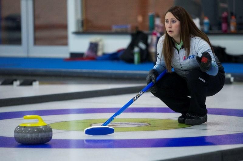 SKIPPER – Karynn Flory of St. Albert will skip a rink at the Northern Alberta Curling Association playdowns