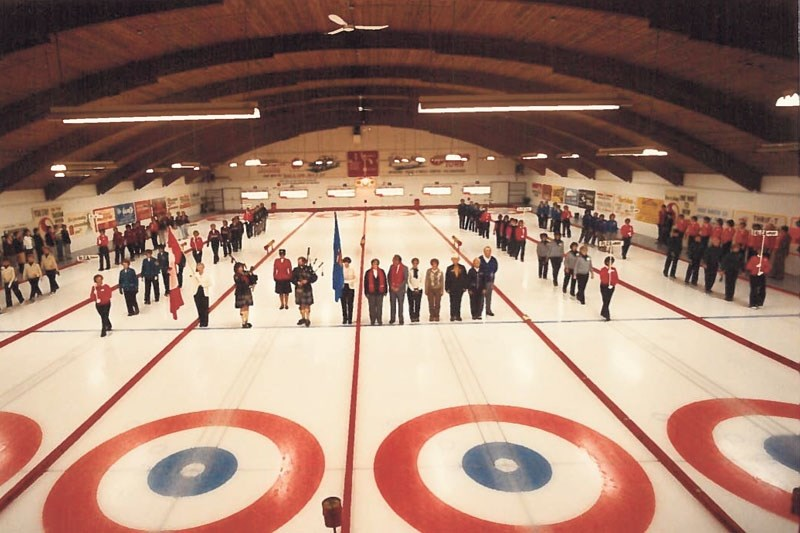 BACK IN THE DAY – The opening ceremonies for the 1984 Alberta Scotties Tournament of Hearts marked the start of the six-team competition at the St. Albert Curling Club. The