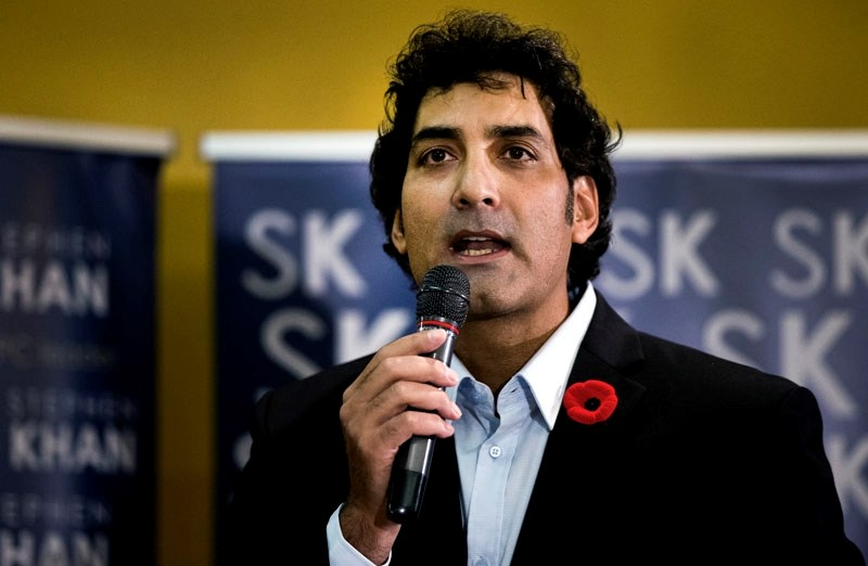 Stephen Khan bowed out of the Albert PC leadership race this week.