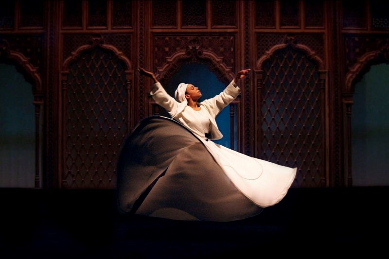 Whirling Dervish Tanya Evanson performs for two numbers during the Niyaz performance.