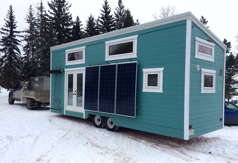 TINY HOUSE – Sturgeon County's Kenton Zerbin will have this tiny home at the Edmonton Home and Garden Show next week. The home is completely off-grid and has a bathroom