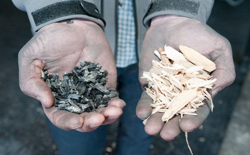 TESTING IN PROGRESS – U of A researchers plan to test the effects of biochar on tree growth along shelterbelts this year to see if it can help farmers trap more carbon in the