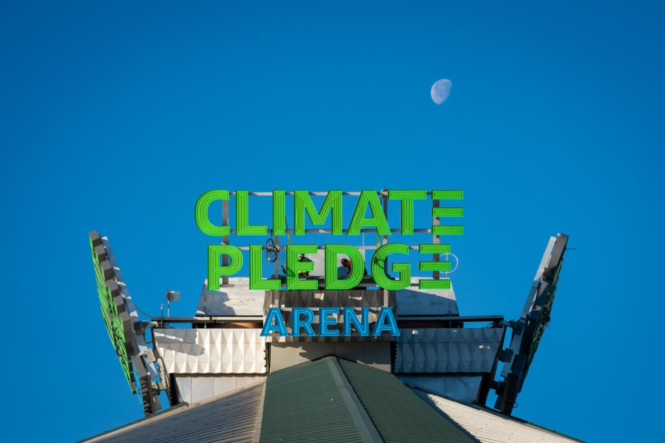 The roof of the new Climate Pledge Arena in Seattle is seen, a facility world-renowned architect Jason McLennan was involved in planning. (Submitted)