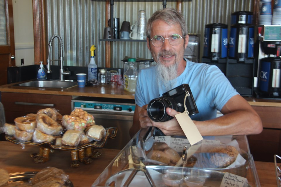 Former Northern Life staff photographer David Wiewel has opened a downtown Sudbury café called Café Obscura that sells film camera equipment as well as typical café fare. (Heidi Ulrichsen/Sudbury.com)
