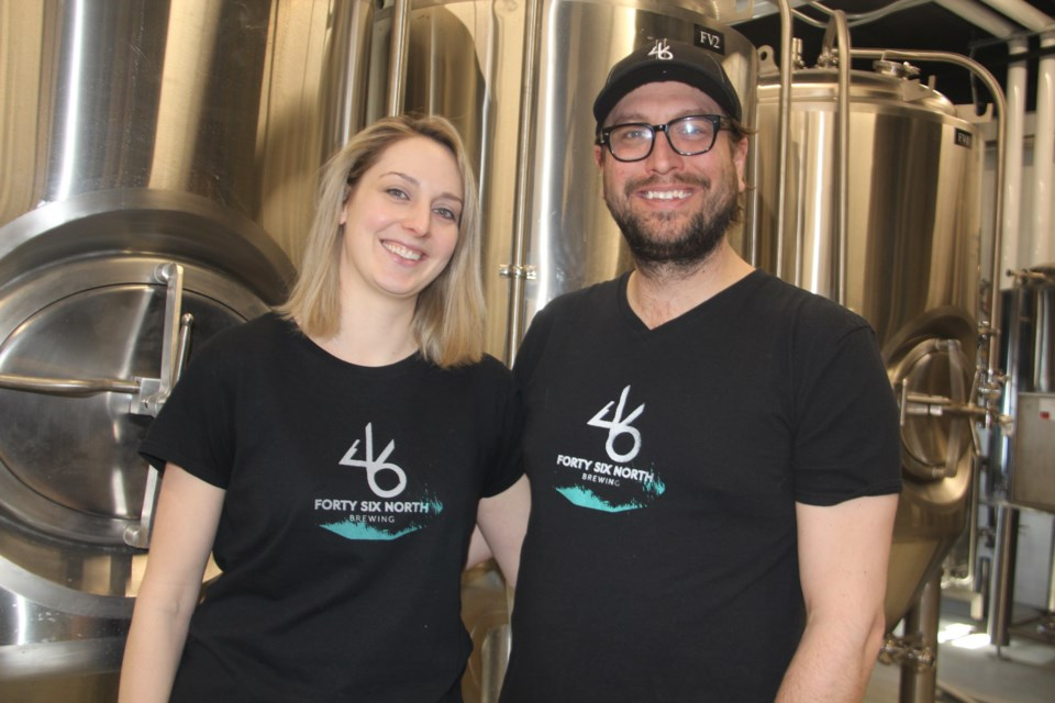 Husband and wife team Holli Bernier and Graham Orser are the owner of the new brewery 46 North Brewing. (Heidi Ulrichsen/Sudbury.com)