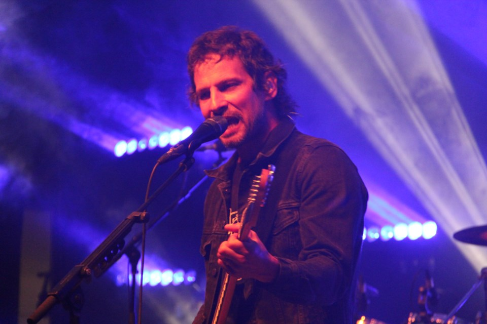Sam Roberts of the Sam Roberts Band entertains the crowd at Northern Lights Festival Boréal Thursday night. (Heidi Ulrichsen/Sudbury.com)