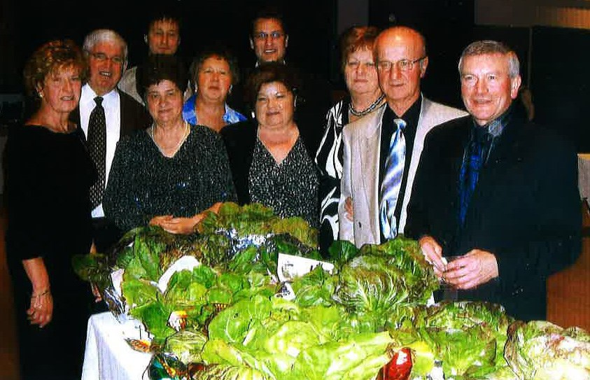 Members of the Associazione Veneta di Sudbury with some of the past entries in the Festa del Radicchio. (Supplied)