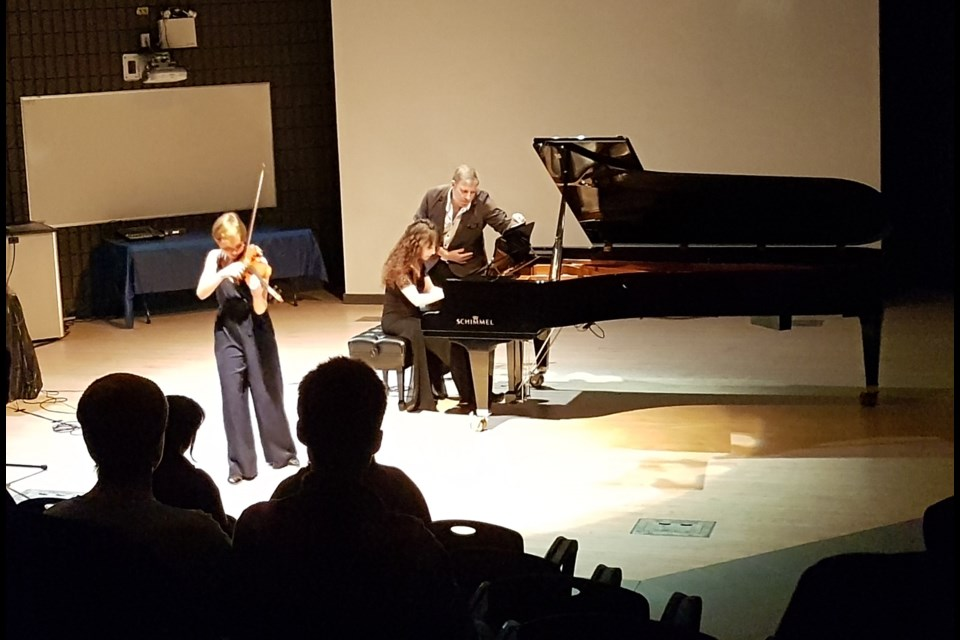 Denis Barchet shared this photos with Sudbury.com of the Nov. 7 violin concert at Cambrian College, featuring violinst Amy Hillis. The concert was presented by the Cambrian College School of Music. Barchet said,