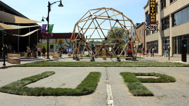 Up Here is taking over downtown from Aug. 16-18 with their patented brand of urban art and music. (Matt Durnan/Sudbury.com)