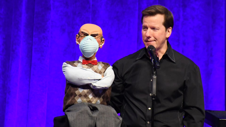 Comedian and ventriloquist Jeff Dunham performs at Sudbury Arena on Feb. 20. Here he is with Walter, one of many puppets that helped make him famous. (Marg Seregelyi / MargsPhotography.com)