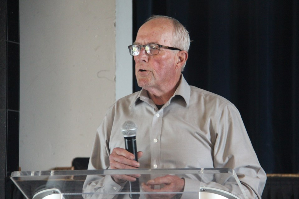 Gary Hrytsak, former Falconbridge worker and former compensation, health and welfare officer with Mine Mill, was one of the speakers at Workers' Memorial Day June 20. (Heidi Ulrichsen/Sudbury.com)
