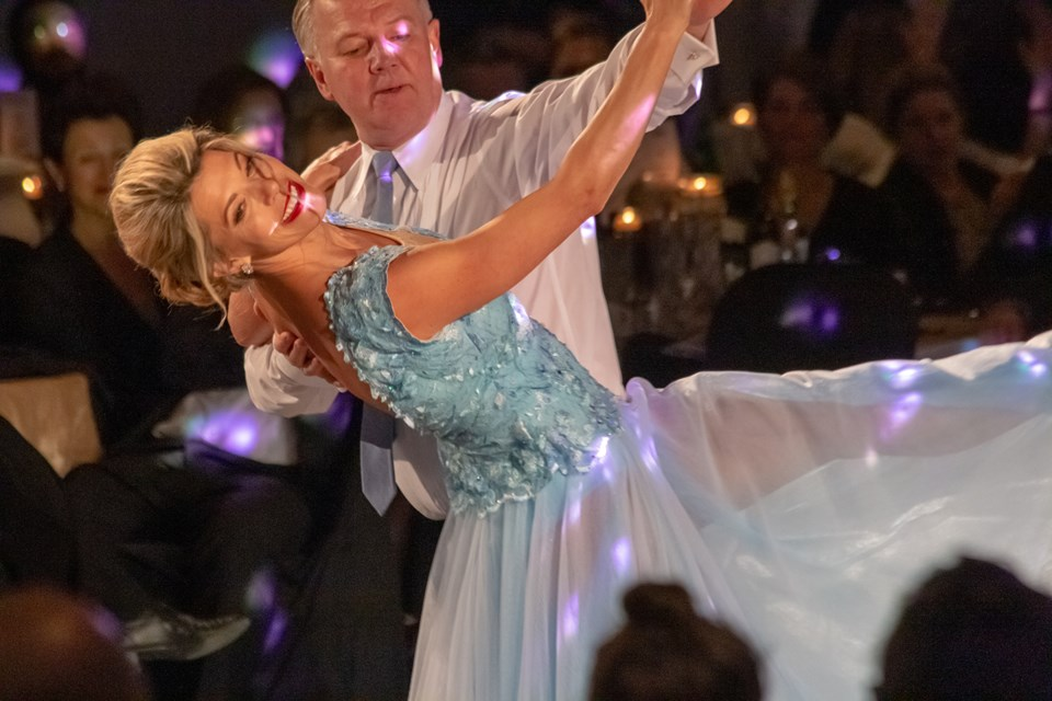 Julie Zulich and her professional partner Dennis Harasymchuk were crowned champion on Feb. 22 at the conclusion of Dancing with Easter Seals Stars. (Supplied)