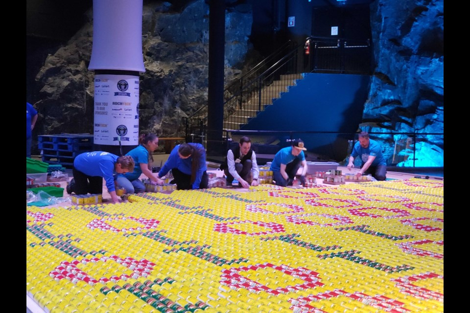 Some pics of Science North's Guinness World Record-worthy canned food display. (Supplied)