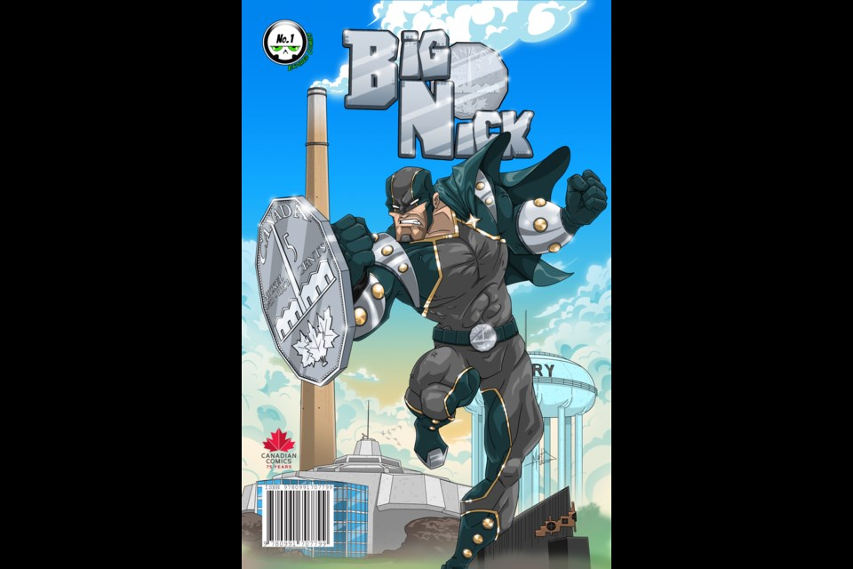 Big Nick, Sudbury's first superhero will make his comic book debut at Graphic-Con 2016. Image: Expired Comics