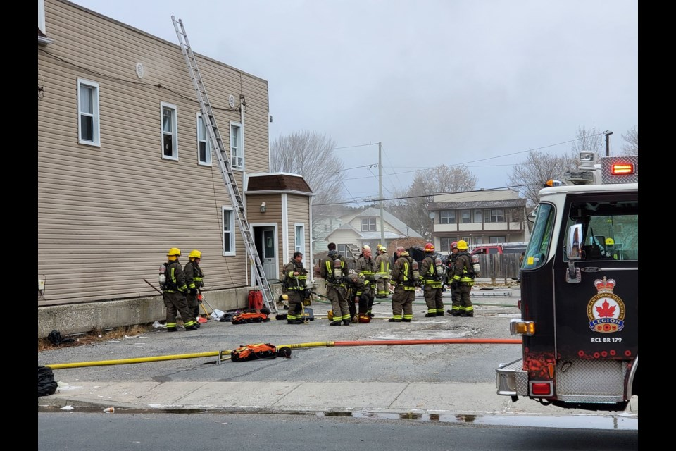 A fire at a five-unit apartment building on King Street on Nov. 2 is being considered suspicious, and is now under investigation by the Ontario Fire Marshal's Office. (Arron Pickard / Sudbury.com)