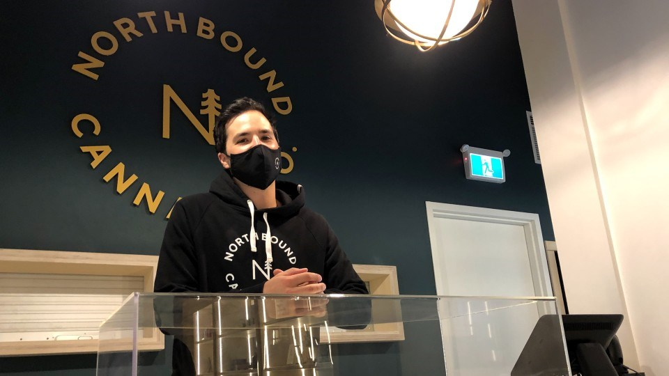 All five owners of Northbound Cannabis Co. are from Greater Sudbury, including Phil Bouffard who is pictured here.
