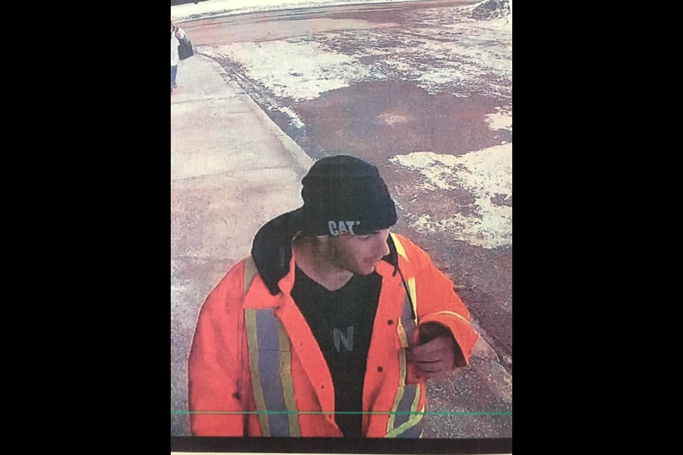 Technica employee Jeff Dane posted these photos of the man he says is the suspect in the attempted theft. He said the images were distributed to workers by mine security. (Supplied)