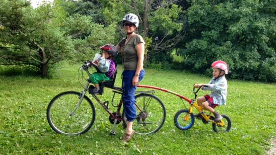 Olathe MacIntyre says bikes are an efficient form of transportation that can greatly increase your sense of freedom and they can work for you even if you have young children. (Supplied)