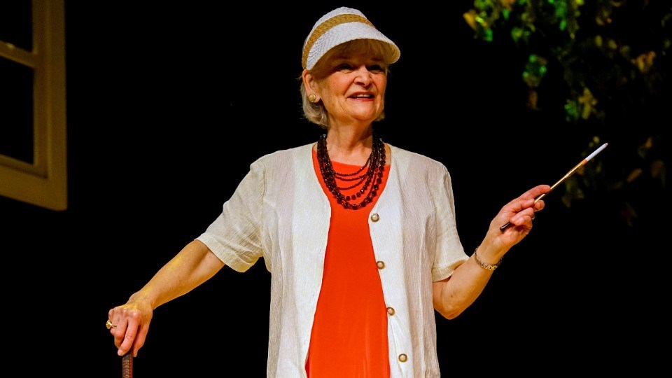 """ctor Mary Pitt makes her Sudbury Theatre Centre debut in the 2021-2022 season opener """"Quiet! I'm Talking"""", which runs until Oct. 30."""