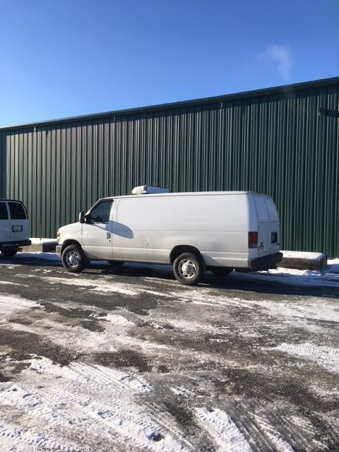 The Sudbury Food Bank's delivery van is seen here. (Supplied)