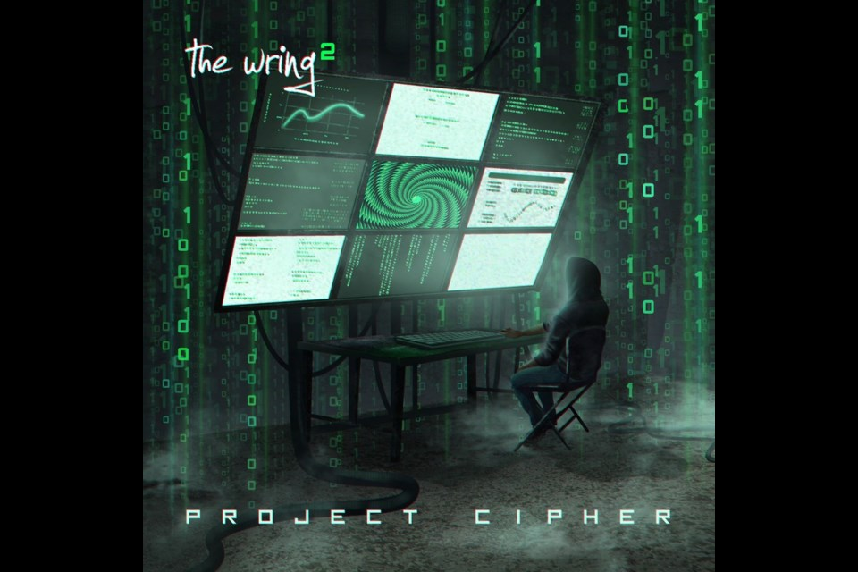 The cover of the Project Cipher, the new solo album from Sudbury progressive rock outfit, The Wring, the brainchild of Don Dewulf.