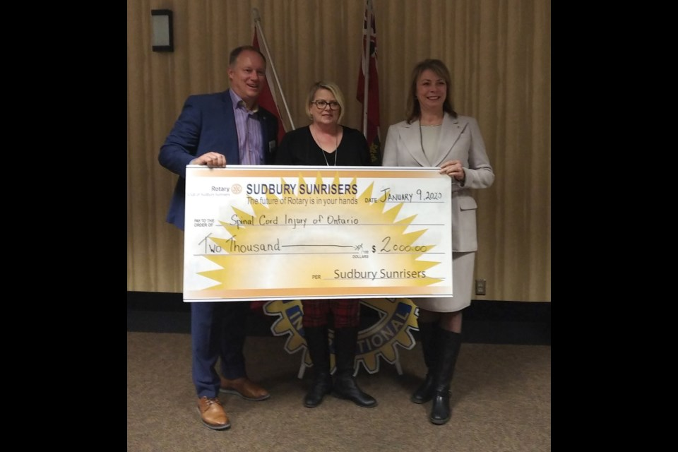 The Rotary Club of Sudbury Sunrisers recently handed out more than $12,000 in donations to a variety of local charities. (Supplied)