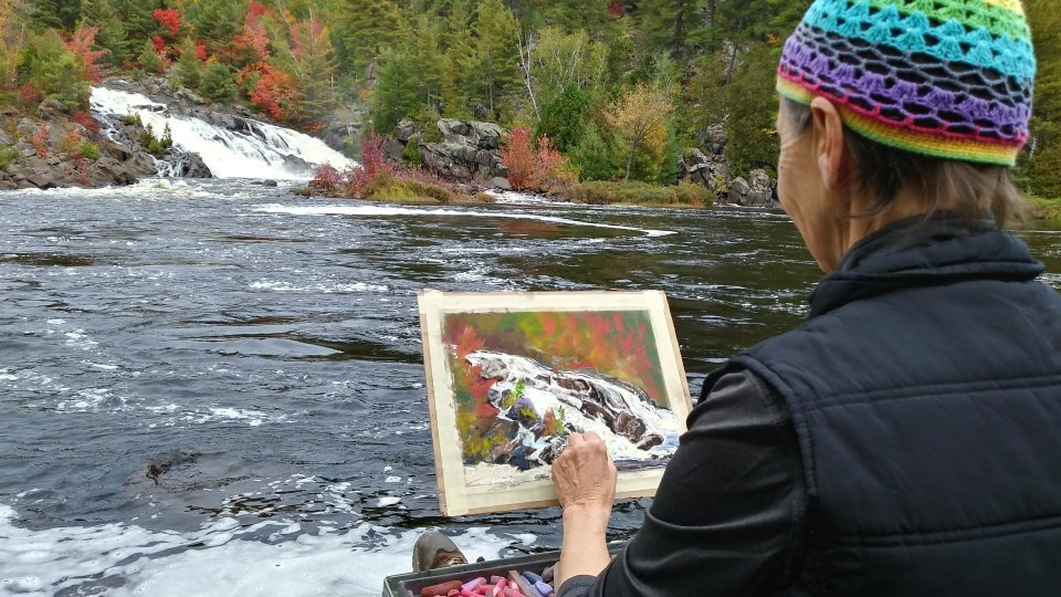 Plein air painter Christy A. Smith's goal of painting Sudbury 365 days a year in the open air nears its end in September.
