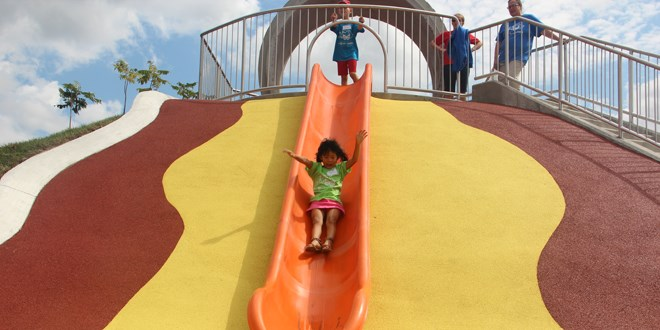 Just one of the attractions at Dynamic Earth's new outdoor science park. Photo by Heidi Ulrichsen.
