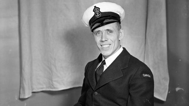 The son of a British Army veteran who had served in India, Cyril Varney joined the Royal Canadian Navy during the Second World War and was decorated for distinguished service. (Supplied)