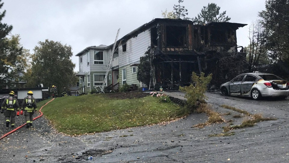 An overnight fire on Antwerp Avenue has been deemed suspicious. Greater Sudbury firefighters located a body inside the burned structure.