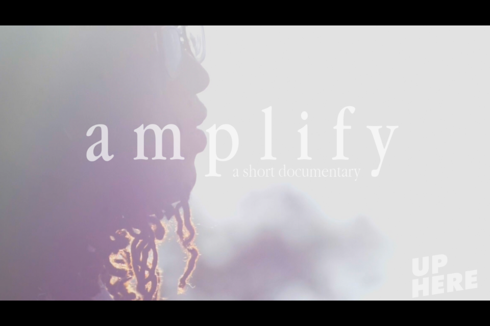 """The cover of Isak Vaillancourt's short documentary """"Amplify"""" on the Black Lives Matter movement in Sudbury."""