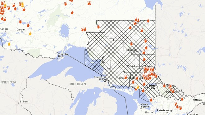 Huge Swath Of Ontario Covered By Restricted Fire Zone Sudbury Com