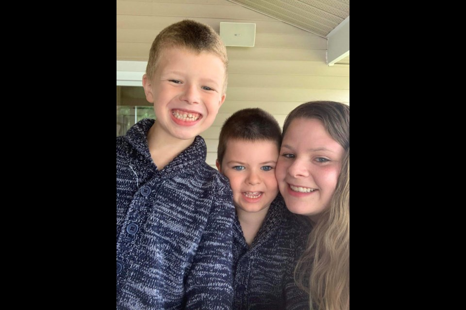 Paige Proulx and sons Nashton and Bryston. (Supplied)